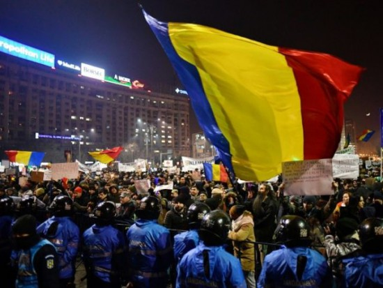 Protests in Bucharest Photo by BREITBART LONDON